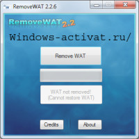 Активатор Remove-WAT для Windows 7